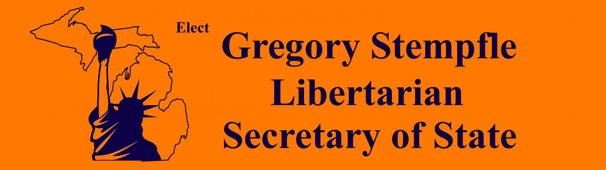 Gregory Stempfle, Libertarian for Secretary of State